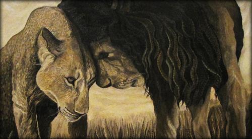львы картины: